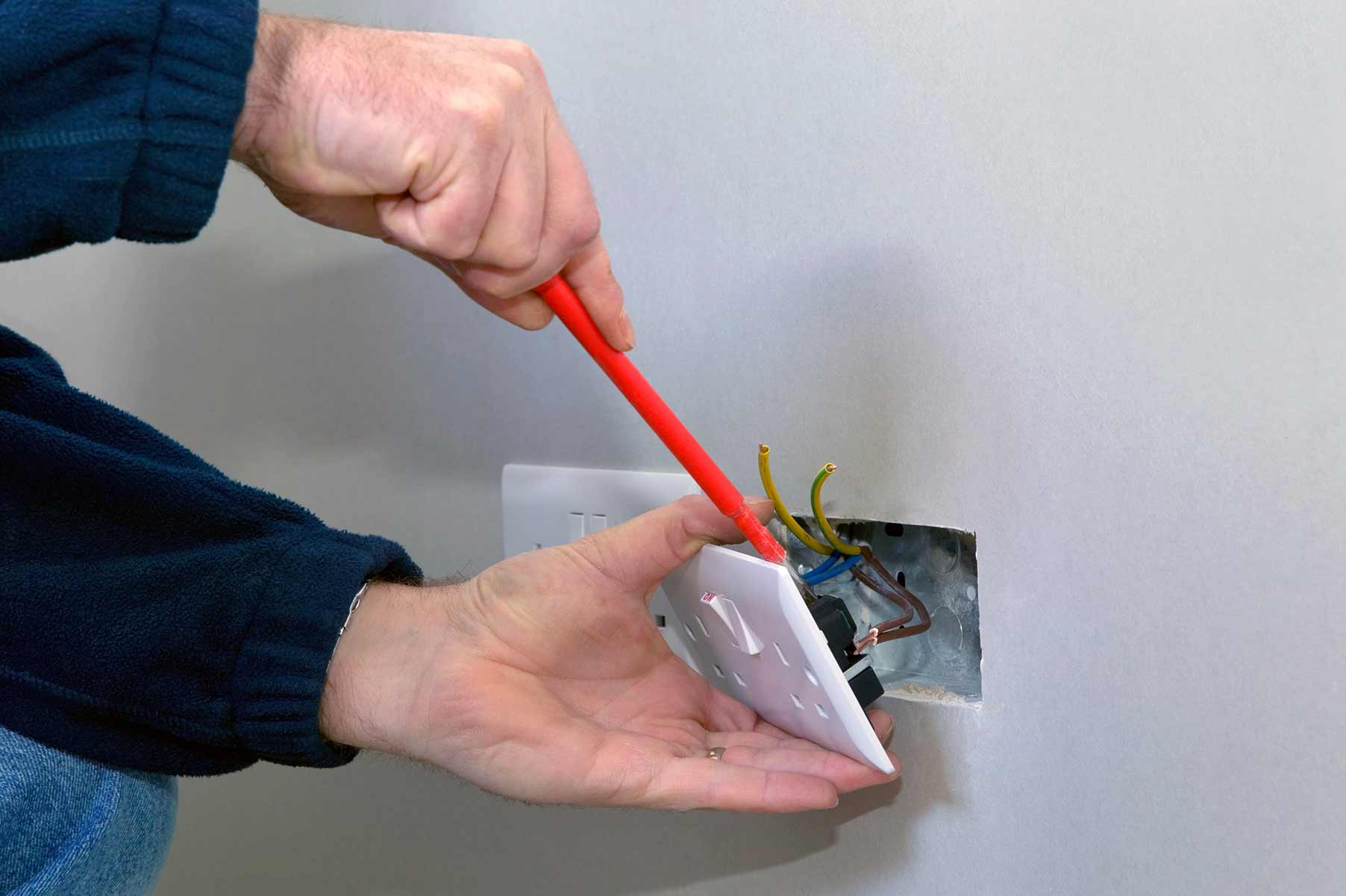 Our electricians can install plug sockets for domestic and commercial proeprties in Wallington and the local area.